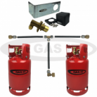 GAS IT 6kg & 11kg TWIN Bottle Kit - IN Locker Fill