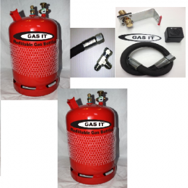GAS IT 6kg TWIN Bottle Kit - In Locker Fill