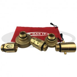 GAS IT 5 PART EUROPEAN FILL POINT ADAPTOR KIT