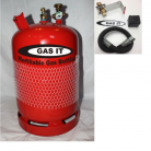 GAS IT 6kg Refillable bottle & locker  Fill kit