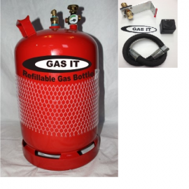 GAS IT 11kg Refillable bottle & locker  Fill kit