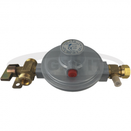 30mb Regulator With 2 x W20 Manual Change Over Tap Inlet And 8mm Compression Outlet